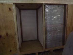 Crates for Glass Display Cabinets