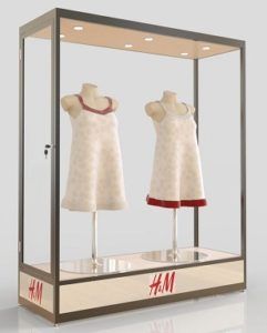 Custom Made Mannequin Display Cabinets