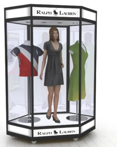 Hexagonal Mannequin Display Cabinets