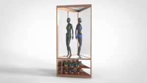 Triangular Mannequin Display Cabinets